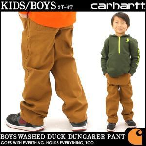 [キッズ] カーハート ペインターパンツ ウォッシュ加工 USAモデル ボーイズ│ブランド ズボン ダックキャンバス|f-box