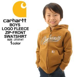 [キッズ] カーハート パーカー ジップアップ 裏起毛 ボーイズ CP8447 USAモデル|ブランド Carhartt|子供 子供服 男の子 女の子 アメカジ|f-box