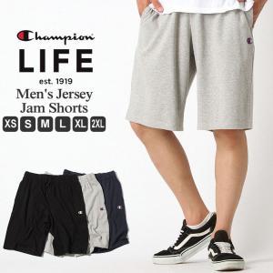 チャンピオン ライフ スウェット ハーフパンツ 膝上 メンズ 大きいサイズ USAモデル|ブランド ショートパンツ ロゴ アメカジ|f-box
