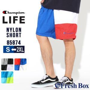 チャンピオン ハーフパンツ メンズ ナイロン メッシュ カラーブロック 大きいサイズ 85874 549724|ショーツ ブランド アメカジ USAモデル|f-box