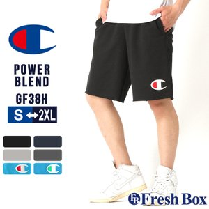 チャンピオン スウェット ハーフパンツ 膝上 メンズ 大きいサイズ USAモデル|ブランド ショートパンツ ビッグロゴ アメカジ|f-box