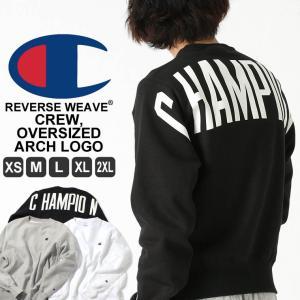 チャンピオン トレーナー 厚手 メンズ レディース バックプリント 大きいサイズ USAモデル リバースウィーブ|ブランド スウェット ロゴ アメカジ 裏起毛|f-box