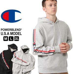 チャンピオン パーカー プルオーバー メンズ 袖プリント 大きいサイズ USAモデル|ブランド Champion|f-box
