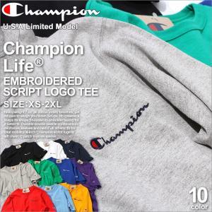 チャンピオン ライフ Tシャツ 半袖 厚手 メンズ 大きいサイズ USAモデル|ブランド 半袖Tシャツ ロゴ アメカジ ヘビーウェイト|f-box