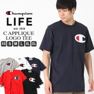チャンピオン ライフ Tシャツ 半袖 レディース メンズ 大きいサイズ USAモデル|ブランド 半袖Tシャツ ロゴ アメカジ ヘビーウェイト|f-box