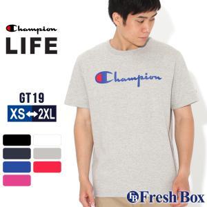 チャンピオン Tシャツ 半袖 クルーネック メンズ レディース 大きいサイズ GT19 Y08254|ブランド アメカジ USAモデル|f-box