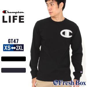 チャンピオン Tシャツ 長袖 クルーネック メンズ レディース 大きいサイズ GT47 Y07981|ブランド ロンT アメカジ USAモデル|f-box