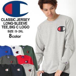 チャンピオン Tシャツ 長袖 レディース メンズ 大きいサイズ USAモデル|ブランド ロンT 長袖Tシャツ ビッグロゴ アメカジ|f-box