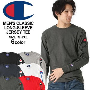 チャンピオン Tシャツ 長袖 メンズ 大きいサイズ USAモデル|ブランド ロンT 長袖Tシャツ 袖プリント ロゴ アメカジ|f-box