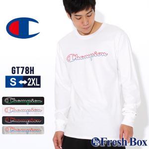 チャンピオン Tシャツ 長袖 クルーネック メンズ 大きいサイズ GT78H Y08126|ブランド ロンT アメカジ USAモデル|f-box