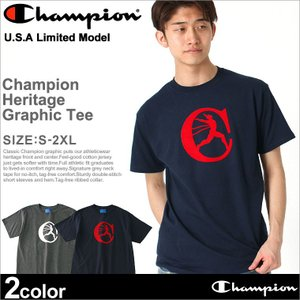 [ラスト1点] チャンピオン Tシャツ 半袖 メンズ 大きいサイズ USAモデル|ブランド 半袖Tシャツ ロゴ アメカジ|f-box