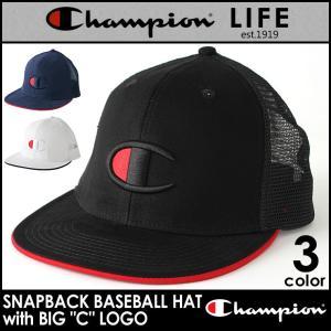 チャンピオン メッシュキャップ メンズ レディース 帽子 USAモデル|ブランド ビッグロゴ アメカジ スナップバック|f-box
