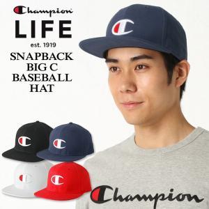 チャンピオン ライフ キャップ メンズ レディース 帽子 USAモデル|ブランド ビッグロゴ アメカジ スナップバック|f-box