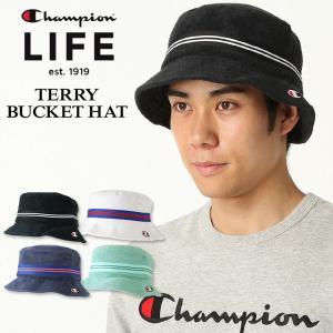 チャンピオン ライフ バケットハット メンズ レディース 帽子 USAモデル パイル地|ブランド ロゴ アメカジ|f-box
