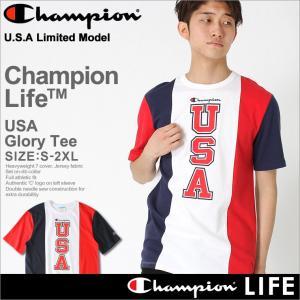 チャンピオン ライフ Tシャツ 半袖 メンズ レディース 大きいサイズ USAモデル|ブランド 半袖Tシャツ ロゴ アメカジ|f-box