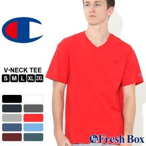 チャンピオン Tシャツ 半袖 Vネック 無地|大きいサイズ USAモデル ブランド Champion|半袖Tシャツ アメカジ S M L LL 2L 3L|f-box