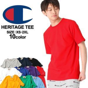 チャンピオン Tシャツ 半袖 厚手 無地 レディース メンズ 大きいサイズ USAモデル|ブランド 半袖Tシャツ アメカジ ロゴ ヘビーウェイト|f-box