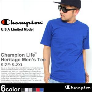 チャンピオン ライフ Tシャツ 半袖 メンズ レディース 大きいサイズ USAモデル|ブランド ロゴ アメカジ ヘビーウェイト|f-box