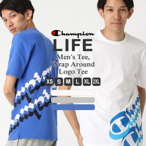 チャンピオン ライフ Tシャツ 半袖 メンズ 大きいサイズ USAモデル 限定 日本未発売|ブランド 半袖Tシャツ ロゴ アメカジ|f-box