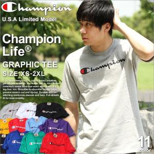 チャンピオン Tシャツ 半袖 レディース メンズ 大きいサイズ USAモデル|ブランド 半袖Tシャツ ロゴ アメカジ ストリート|f-box