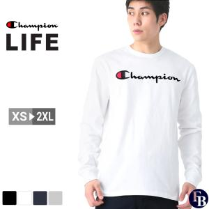 チャンピオン ライフ Tシャツ 長袖 メンズ 大きいサイズ USAモデル|ブランド ロンT 長袖Tシャツ ロゴ アメカジ|f-box