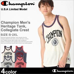 チャンピオン タンクトップ メンズ 大きいサイズ USAモデル|ブランド ノースリーブ ロゴ アメカジ おしゃれ スポーツ|f-box