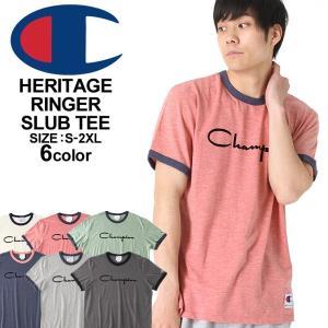 チャンピオン Tシャツ 半袖 メンズ ブランド 大きいサイズ USAモデル|ブランド 半袖Tシャツ ヘリテージ ビッグロゴ アメカジ|f-box