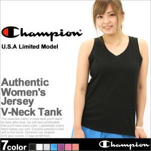 チャンピオン タンクトップ Vネック レディース 大きいサイズ USAモデル|ブランド ノースリーブ ロゴ アメカジ ルームウェア|f-box