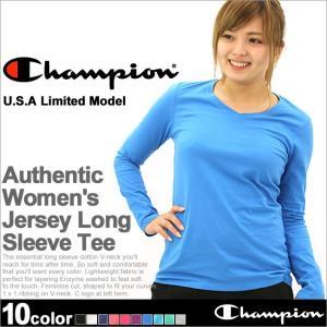 チャンピオン Tシャツ 長袖 無地 レディース 大きいサイズ USAモデル|ブランド ロンT 長袖Tシャツ ロゴ アメカジ|f-box