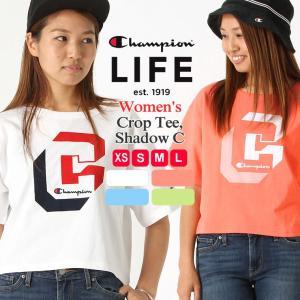 チャンピオン ライフ Tシャツ 半袖 厚手 レディース 大きいサイズ USAモデル|ブランド 半袖Tシャツ アメカジ ロゴ ヘビーウェイト|おしゃれ カジュアル|f-box