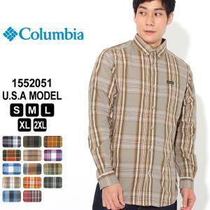コロンビア シャツ 長袖 ボタンダウン 1552051|ブランド Columbia|長袖シャツ カジュアルシャツ|f-box