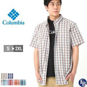 Columbia コロンビア シャツ メンズ チェック 半袖 ボタンダウンシャツ チェックシャツ 大きいサイズ (USAモデル)|f-box