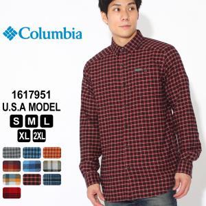 Columbia コロンビア シャツ 長袖 フランネル レギュラーカラー 1617951 ブランド 長袖シャツ カジュアルシャツ|f-box
