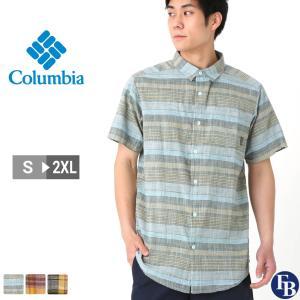 Columbia コロンビア シャツ メンズ チェック 半袖 薄手 チェックシャツ 大きいサイズ (USAモデル)|f-box