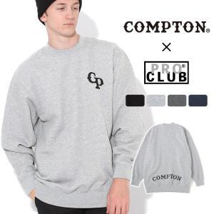【送料無料】 トレーナー メンズ|プロクラブ コンプトン コラボ comxpc0001|PRO CLUB COMPTON BASIC LOGO|f-box