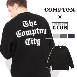 【送料無料】 トレーナー メンズ|プロクラブ コンプトン コラボ comxpc0003|PRO CLUB COMPTON THE TIMES|f-box