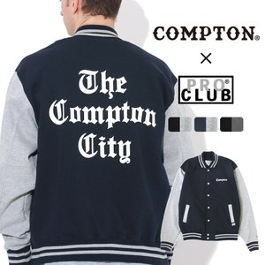 【送料無料】 スタジャン スウェット メンズ|プロクラブ コンプトン コラボ comxpc0007|PRO CLUB COMPTON THE TIMES|f-box