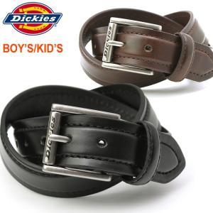 【BOYSサイズ】 Dickies ディッキーズ ベルト メンズ ブランド ベルト メンズ 革 本革ベルト 子供 キッズ|f-box