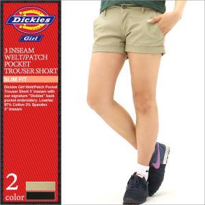 Dickies Girl ディッキーズ ガール ショートパンツ レディース ハーフパンツ 膝上 ストレッチ 大きいサイズ レディースファッション (Dickies 1588j)|f-box