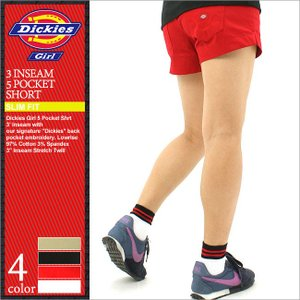 Dickies Girl ディッキーズ ガール ショートパンツ レディース ハーフパンツ 膝上 ストレッチ 大きいサイズ レディースファッション (1590j)|f-box