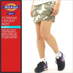 Dickies Girl ディッキーズ ガール スカート 膝丈 スカート膝上 迷彩 迷彩柄 ミリタリー 大きいサイズ レディースファッション (Dickies 1617jcm)|f-box