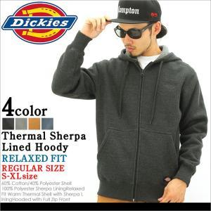 ディッキーズ パーカー ジップアップ 無地 ボア 4464 メンズ|大きいサイズ USAモデル Dickies|防寒 スウェット XL XXL LL 2L 3L|f-box