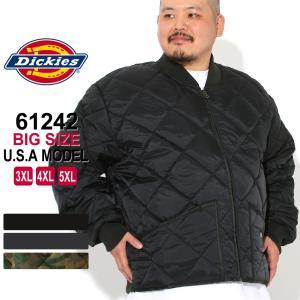 [ビッグサイズ] ディッキーズ キルティングジャケット 61242 メンズ ナイロンジャケット|大きいサイズ USAモデル Dickies|ワークジャケット 防寒|f-box