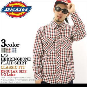 ディッキーズ Dickies シャツ 長袖 メンズ 大きいサイズ チェックシャツ チェック柄 長袖シャツ カジュアルシャツ アメカジ ブランド f-box