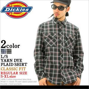 ディッキーズ Dickies シャツ 長袖 メンズ チェックシャツ チェック柄 長袖シャツ 大きいサイズ アメカジ ブランド f-box