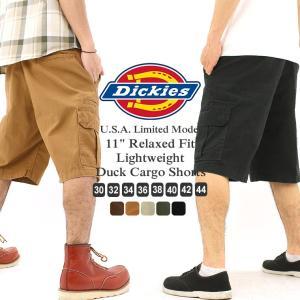 ディッキーズ ハーフパンツ ひざ下 ダック リラックスフィット DR251 メンズ|ウエスト 30〜44インチ|大きいサイズ USAモデル Dickies|カーゴパンツ|f-box