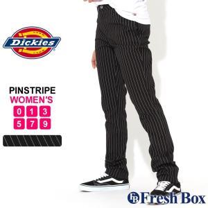 【ブラックフライデー】 [レディース] ディッキーズ スキニーパンツ ピンストライプ ストレッチ 大きいサイズ HH874SKPS Dickies Girl スリムパンツ アメカジ|f-box