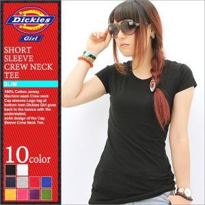 ディッキーズガール Tシャツ 半袖 クルーネック 無地 レディース JR831|大きいサイズ USAモデル Dickies Girl|ディッキーズ 半袖Tシャツ|f-box