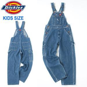 キッズ ディッキーズ ボーイズ オーバーオール デニム KB102|USAモデル Dickies Boys|サロペット カバーオール 子供 男の子 女の子|f-box