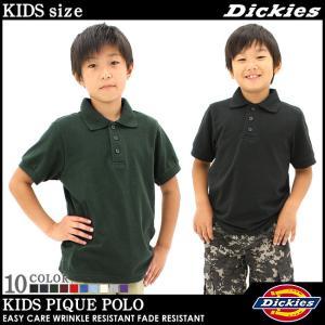 [キッズ] ディッキーズ ボーイズ ポロシャツ 半袖 KS4552|USAモデル Dickies Boys|半袖ポロシャツ 子供 男の子 女の子 ダンス 衣装 ヒップホップ|f-box